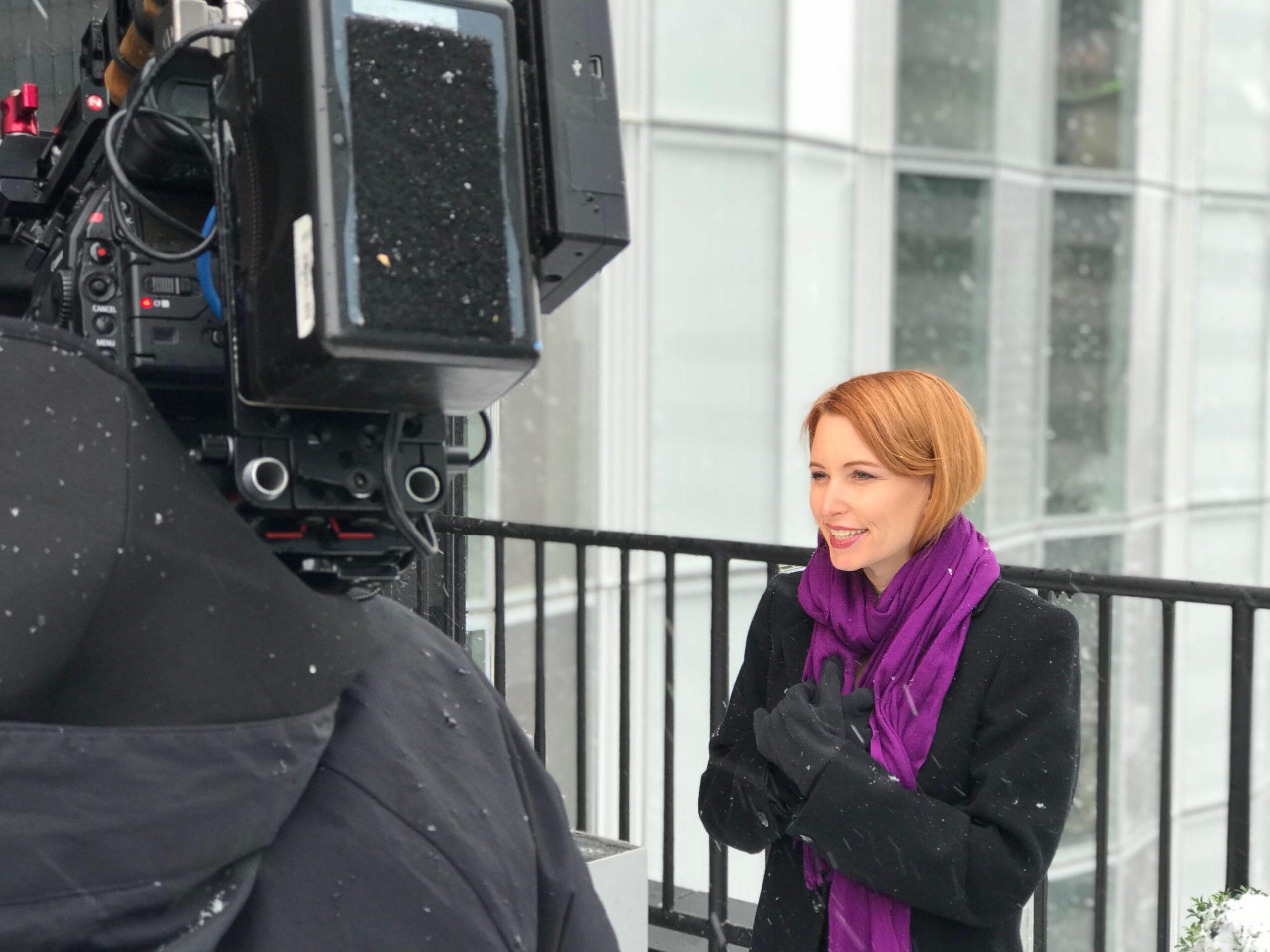 Tamara Krinsky Filming